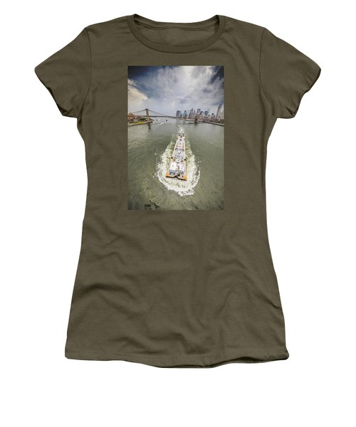 Aerial View - The Barge At The East River Women's T-Shirt (Athletic Fit)