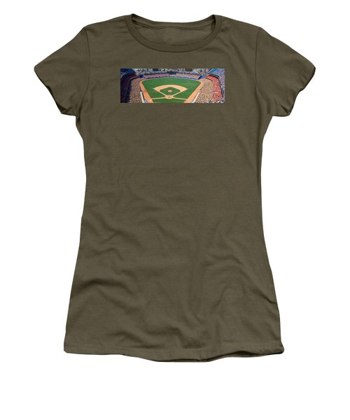 Aerial View Of A Stadium, Dodger Women's T-Shirt (Athletic Fit)