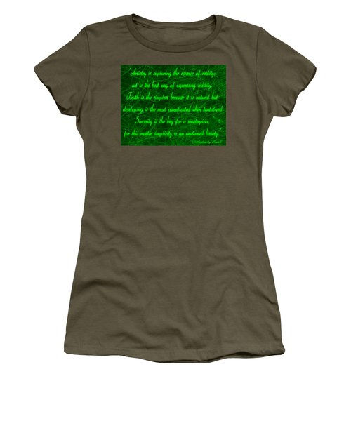 Aesthetic Quote 1 Women's T-Shirt (Athletic Fit)