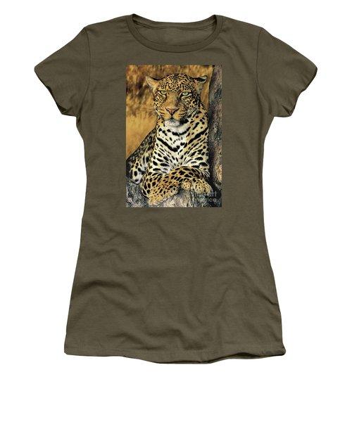 African Leopard Portrait Wildlife Rescue Women's T-Shirt (Athletic Fit)
