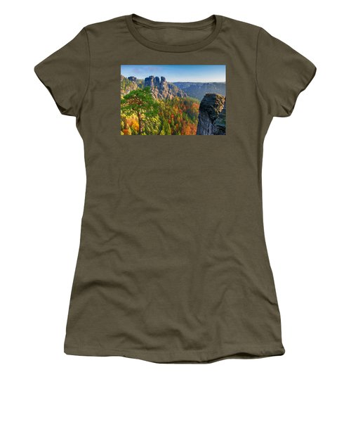 After The Sunrise On The Bastei Women's T-Shirt