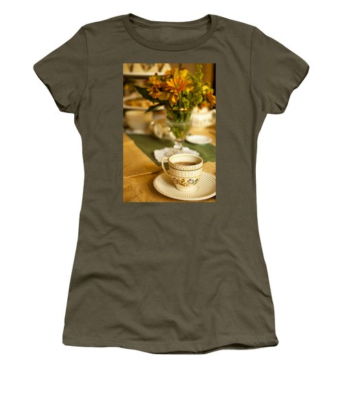Afternoon Tea Time Women's T-Shirt (Junior Cut) by Andrew Soundarajan