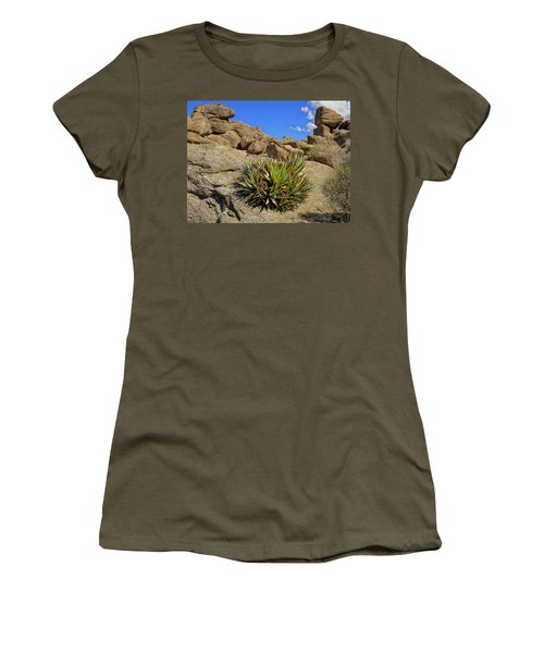 Women's T-Shirt (Junior Cut) featuring the photograph Against The Odds by Michael Pickett