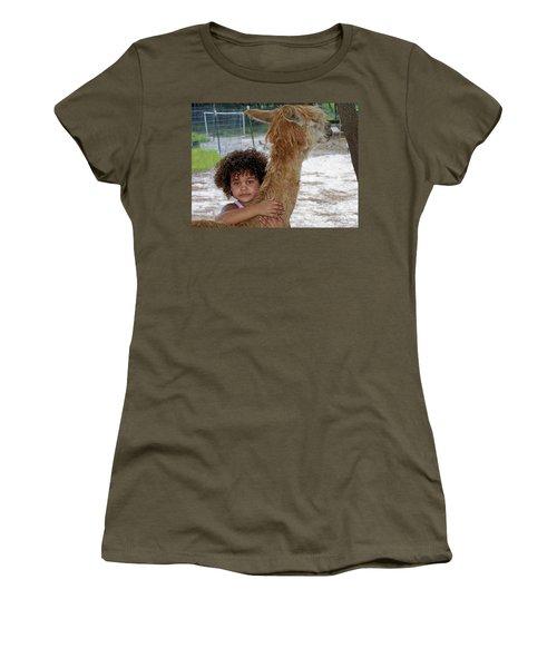Alpaca Love Women's T-Shirt (Athletic Fit)