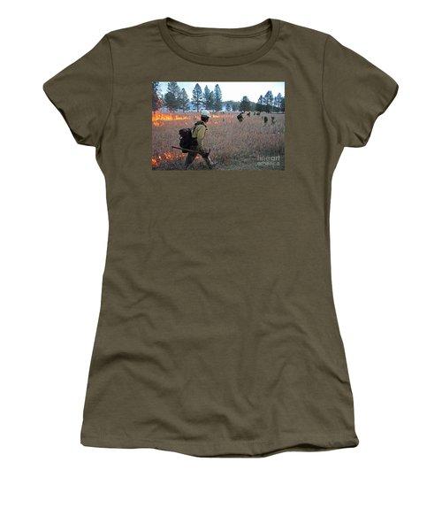 Alpine Hotshots Ignite Norbeck Prescribed Fire Women's T-Shirt