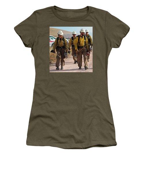 Alpine Hotshots Prepare To Ignite Cold Brook Prescribed Fire Women's T-Shirt