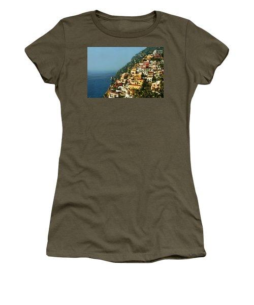 Amalfi Coast Hillside II Women's T-Shirt (Athletic Fit)