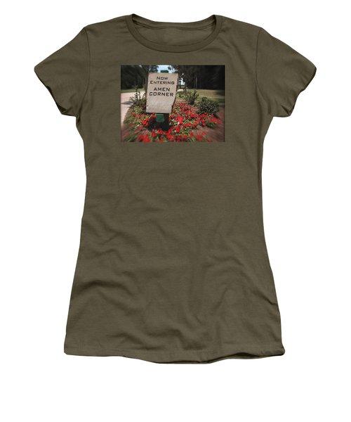 Amen Corner - A Golfers Dream Women's T-Shirt (Junior Cut) by Ella Kaye Dickey