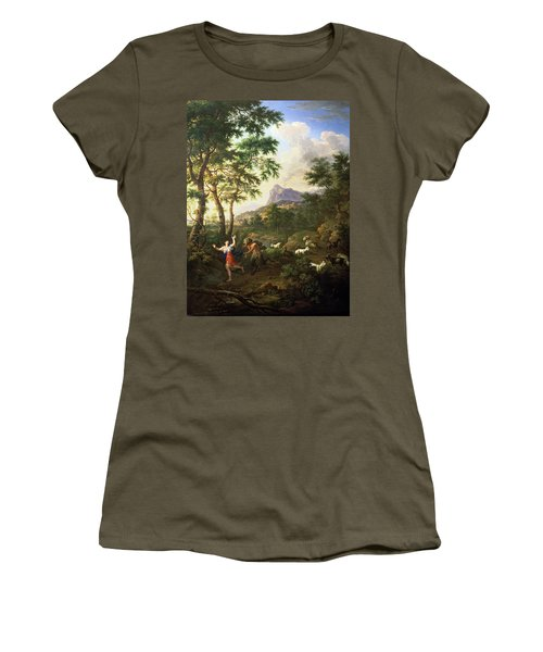 An Arcadian Landscape With Pan And Syrinx Women's T-Shirt