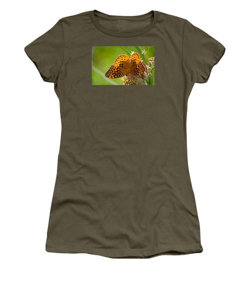 Great Spangled Fritillary Women's T-Shirt (Junior Cut) by Rima Biswas