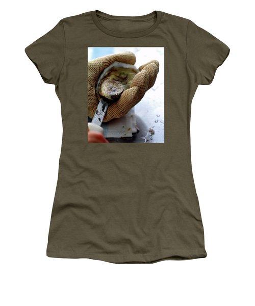 An Oytser Being Shucked Women's T-Shirt