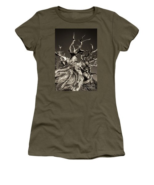 Ancient Bristlecone Pine In Black And White Women's T-Shirt