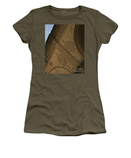 Women's T-Shirt (Junior Cut) featuring the photograph Ancient Wall by Mini Arora
