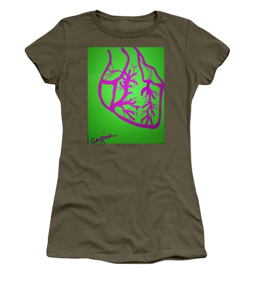 Women's T-Shirt (Junior Cut) featuring the digital art Angina by Erika Chamberlin
