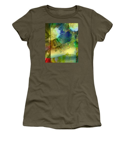 Women's T-Shirt (Junior Cut) featuring the painting Angiospermae by Allison Ashton