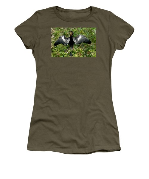 Anhinga Sunning Women's T-Shirt (Athletic Fit)