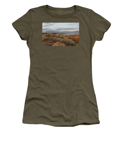 Women's T-Shirt (Junior Cut) featuring the photograph Antelope Island - Scenic View by Ely Arsha