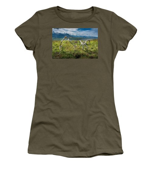 Antlers On The Hill Women's T-Shirt (Junior Cut) by Andrew Matwijec