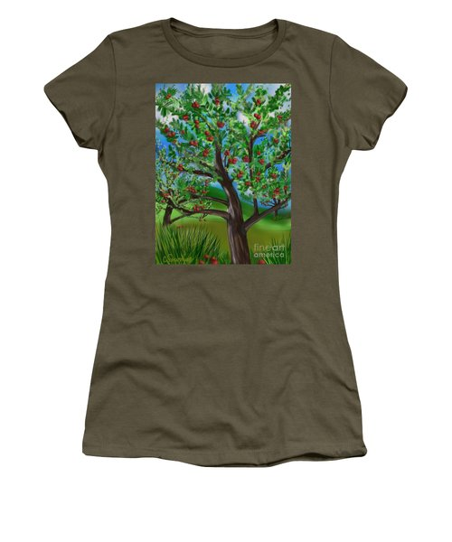 Apple Acres Women's T-Shirt (Junior Cut) by Christine Fournier