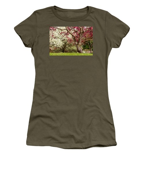 Apple Blossom Colors Women's T-Shirt (Athletic Fit)