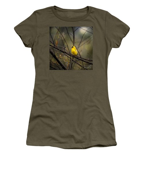 April Showers In Square Format Women's T-Shirt (Athletic Fit)