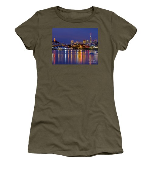 Women's T-Shirt featuring the photograph Aquatic Park Blue Hour by Kate Brown