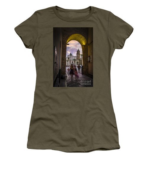 Arc Of The Rose Cadiz Spain Women's T-Shirt (Athletic Fit)