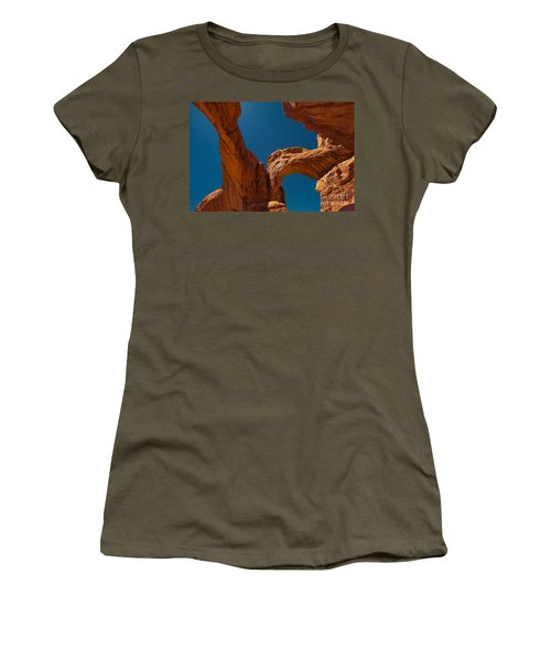 Women's T-Shirt (Junior Cut) featuring the photograph Arches Np by Juergen Klust