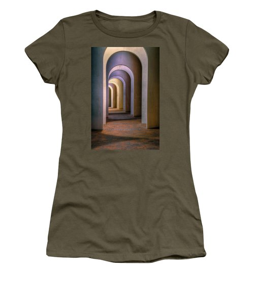 Arches Of The Ferguson Center Women's T-Shirt (Junior Cut) by Jerry Gammon