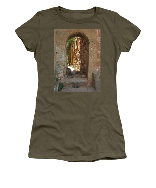 Women's T-Shirt (Junior Cut) featuring the photograph Archway by Pema Hou