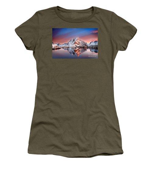 Arctic Dawn Over Reine Village Women's T-Shirt