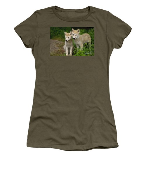 Arctic Wolf Puppies Women's T-Shirt
