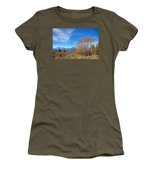 Women's T-Shirt (Junior Cut) featuring the photograph Aspen Last Stand  by David Andersen