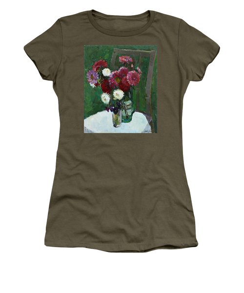 Asters In The First Frosts Women's T-Shirt (Athletic Fit)