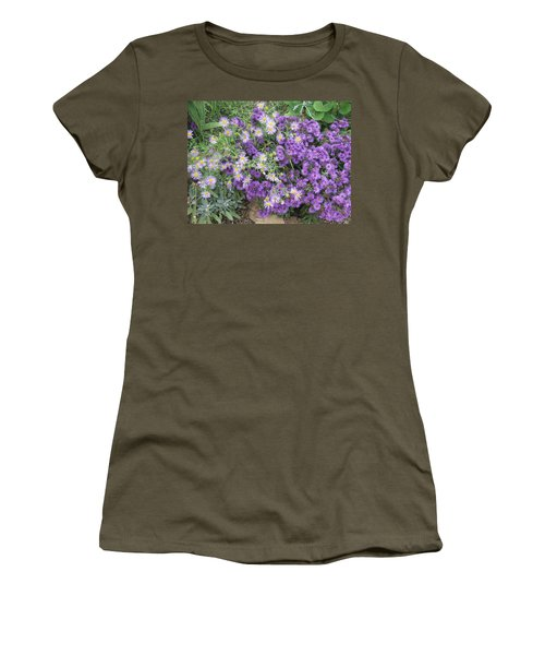 Asters Light And Dark Women's T-Shirt (Athletic Fit)