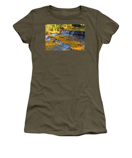 Au Train Falls Women's T-Shirt (Junior Cut) by Terri Gostola