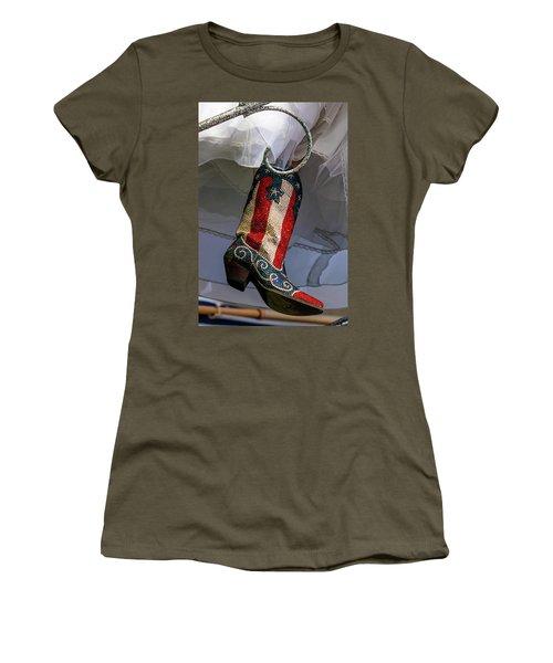 Austin Texas - Red White Blue Sequin Women's T-Shirt