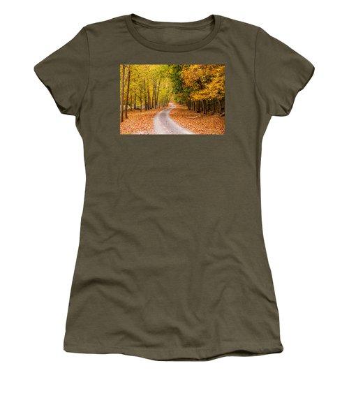 Autum Path Women's T-Shirt (Athletic Fit)