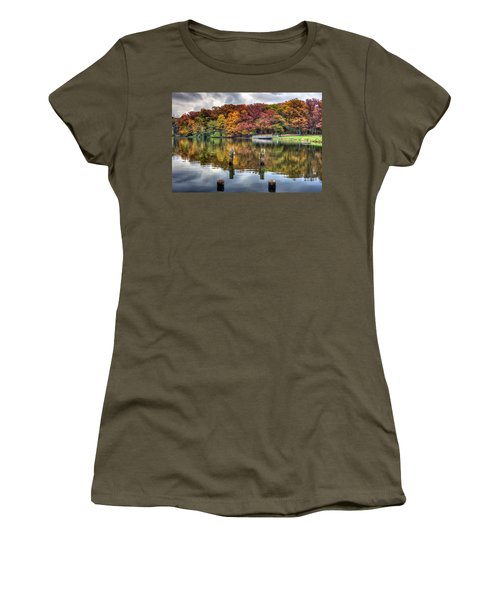 Autumn At The Pond Women's T-Shirt (Athletic Fit)