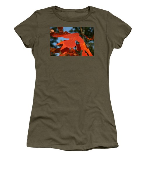 Women's T-Shirt (Junior Cut) featuring the photograph Autumn Attention by Neal Eslinger