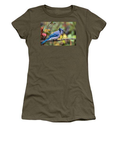 Autumn Blue Jay Women's T-Shirt