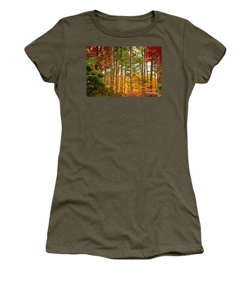 Autumn Canvas Women's T-Shirt (Junior Cut)