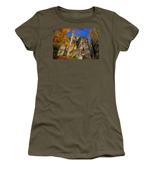 Autumn Colors In The Saxon Switzerland Women's T-Shirt