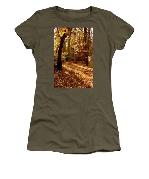 Autumn Country Lane Evening Women's T-Shirt (Athletic Fit)