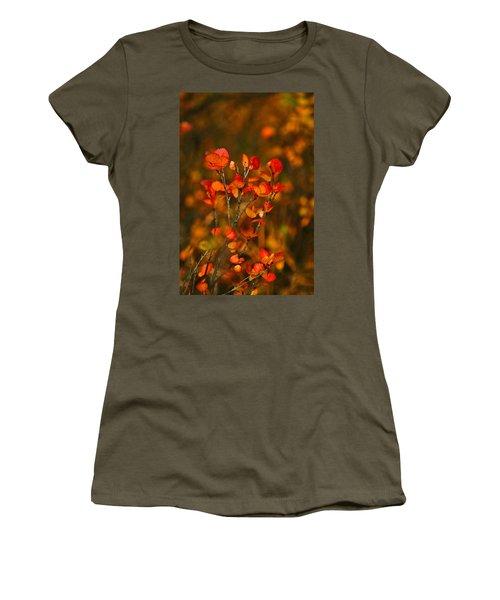 Women's T-Shirt (Junior Cut) featuring the photograph Autumn Emblem by Jeremy Rhoades