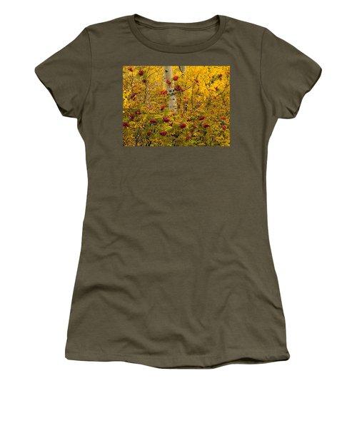 Autumn Forest Colors Women's T-Shirt (Athletic Fit)
