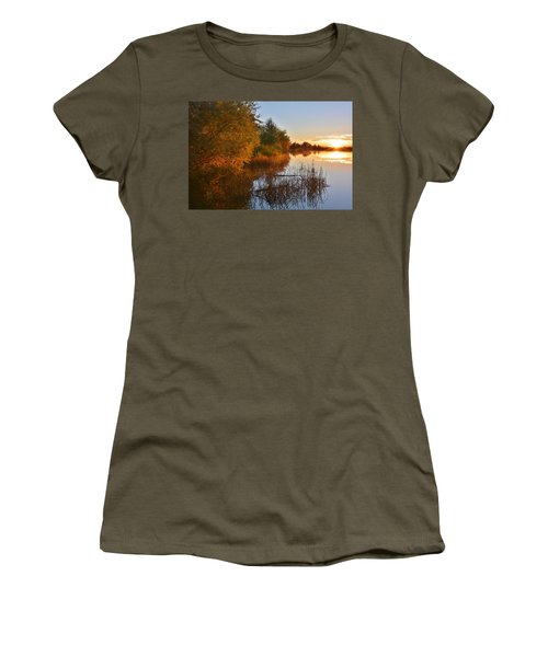 Autumn Glow At The Lake Women's T-Shirt (Athletic Fit)
