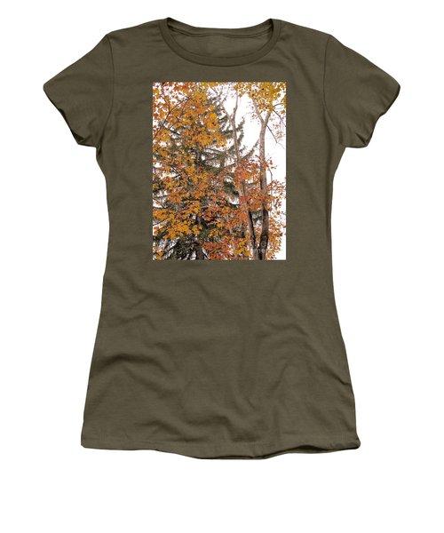 Women's T-Shirt (Junior Cut) featuring the photograph Autumn Gold by Sandy McIntire