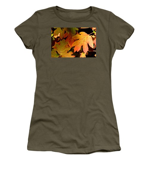 Autumn Hues Women's T-Shirt (Junior Cut) by Living Color Photography Lorraine Lynch