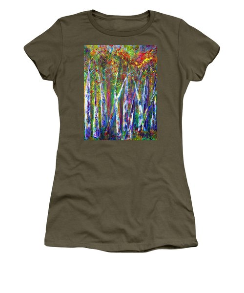 Autumn In Muskoka Women's T-Shirt (Athletic Fit)